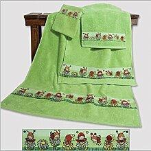 Dyckhoff Kinder Baby Handtuchset 7 tlg. 1x Duschtuch, 2x Handtuch, 2x Gästetuch, 2x Waschhandschuh **NEU**