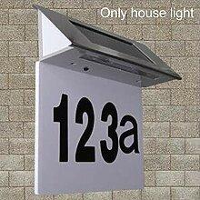 Dyda6 Solarbetriebene Türschild Nummernleuchte
