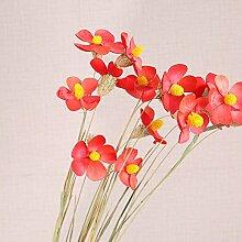 DYF Künstliche Blumen rein manuelle Violett Home Hochzeit Dekoration, Ro