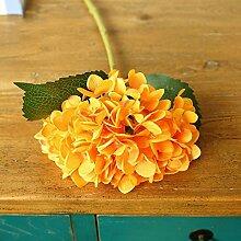 DYF Künstliche Hand Hortensie Simulation Blume Hochzeit Dekoration, Orange