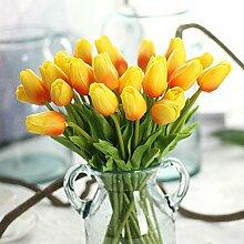 DYF Simulation Tulip Hand Hochzeit Dekoration, Orange