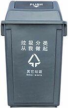 DYFWB Kunststoff Mülleimer, 20L / 40L / 60L