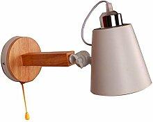 DYFYMX Massivholz Wandlampe,