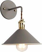 DYFYMX Retro- einfache Wandlampe, Metallsitz mit