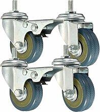 DyNamic 4pcs Heavy Duty Gummiwirbel Castor Wheels