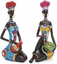 DyNamic Harz Figurine Handwerk Afrikanische Frauen