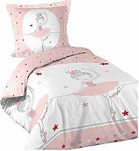 Dynamic24 2tlg. Kinder Mädchen Bettwäsche