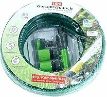 Dynamic24 6tlg. Set Gartenschlauch 15m 1/2 Zoll +