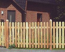 dynamic24 Holsteinzaun Lärche 180x120 Zaun Holz Holzzaun Gartenzaun Friesenzaun