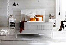 Dynamic24 Holzbett Halifax weiß 160x200 Bett