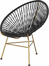 Dynamic24 - Polyrattan Sessel schwarz Clubsessel