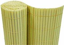 Dynamic24 PVC Sichtschutzmatte 160x500 cm Bambus