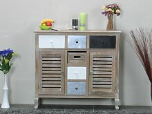 dynamic24 Sideboard Kommode Used Look White Wash