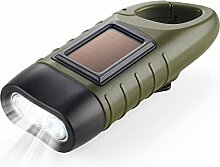 Dynamo Taschenlampe Handkurbel & Solar