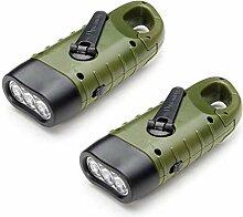 Dynamo Taschenlampe VADIV 2er/ Pack LED