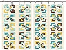 DYNH Retro-Blumen-Tapete, Küchenvorhänge,