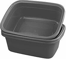 Dynko Waschschüssel Plastik Rechteckig, Grau