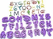 DYTJ-Molds Formen 26 Stücke Englisch Buchstaben