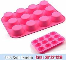 DYTJ-Molds Formen Silikon Muffin Tasse Form 12