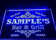 dz058- Namen personalisierbar Familie Bar & Grill Bier Haus Geschenk LED Neon Light Sign