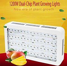 DZW 1200W Dual-Chip-Pflanze Lichter Hochleistungswerk wachsende Licht Volles Spektrum der Pflanzenwachstum Lampen für Indoor Pflanzen Blumen Wachstum Gemüse Gewächshaus Bio High quality