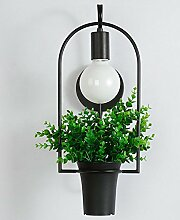 DZW Creative Restaurant Pflanze Blumentöpfe Wandleuchte Schlafzimmer Eisen Wandleuchte Dekorative Wandleuchte (ohne Lichtquelle)Wilde Wahl