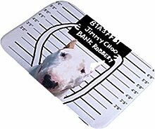 DZW Die TüR FußAuflage Badezimmer Rutschfeste Matte Bullterrier Kreativ Tier Badezimmer Teppich Schlafzimmer TüRmatte Zuhause Teppiche 40cm * 60cm , D