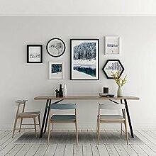 DZW Fotowand Massivholz Modern Einfach Dekoration Hängende Gemälde Fünf Kombination Kleine frische Kunst Wandbild Kreativ Pflanze Blumen und Vögel Wandbilder Wohnzimmer 152 * 67cm , f,Leicht zu bedienen