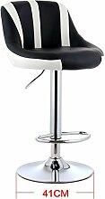 DZW High Stool Moderne Küche Hocker mit Metall Beine Bar Hocker PU Seat Frühstück Bar, 360 Grad Swivel kann aufheben und unten, Höhe 83-103cm , 17 Glatt und stark