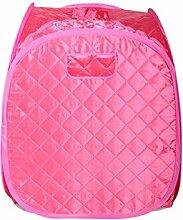 DZW Khan Steam Box Home Steam Sauna Box Home Stream Room Fumigation Machine Sweat Box Folding Single Power 1000W Adjustable Size 80 * 90 * 100cm , pink high quality,Einfach zu gebrauchen