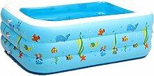 DZW Kinder Baby Pool aufblasbaren Pool aufblasbare Umweltschutz Pvc Blase unten Schwimmbad , light blue , 180