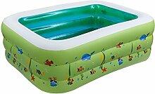 DZW Kinder Baby Pool aufblasbaren Pool aufblasbare Umweltschutz Pvc Blase unten Schwimmbad , green , 160