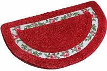 DZW Ländlich Rose Wenig Liebe Teppich Schlafzimmer Türmatten Wasseraufnahme Rutschfest Fußauflage Kissen Teppiche , brown , 45cm*50cm