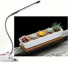 DZW Plant Lights 5W LED wachsen Lichter Dimmable Schreibtisch Clip mit 360 Grad Flexible Schwanenhals LED Pflanze wachsende LampIndoor Pflanze wachsende Lichter High quality
