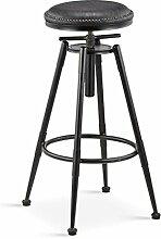 DZW Retro Küche Hocker mit Metall Beine High Hocker Bar Hocker PU Seat Bar, 360 Grad schwenkbar Kann auf und ab und festen Stuhl, Höhe 68-90cm / 98-120cm , 2 Glatt und stark
