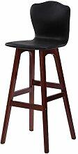 DZW Retro Küche Hocker mit natürlichen Holz Beine High Stuhl Bar Hocker PU Kissen Sitz Frühstück Bar, 360 Grad schwenkbar Hanf Seil Design, Höhe 71cm-74cm für Küche Counter Bar , 17 Glatt und stark