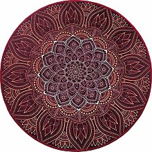 DZW Runder Teppich Computer Schwenkkissen Studieren Sofa Wohnzimmer Badezimmer Schlafzimmer Dekorativer Teppichboden (Weinrot) 60 ~ 140cm , about 120 cm in diameter , wine red,Persönlichkei