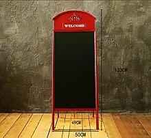 DZW Telefonzelle Wand, Amerikanische Kreative Schmiedeeisen Tafel Wanddekoration, Alte Technik, Coffee-Shop Tee Shop Display Heimtextilien, Drei Modelle , standing blackboard