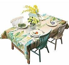DZW Tischdecke Bestickt Tischdecke Leinen Rechteck Waschbar Für Familie Hotel Esstisch Verschiedene Größen , 140*180cm , A,Kosteneffizien