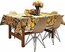 DZW Tischdecke Obst Grapefruit Rechteck Waschbar FüR Familie Hotel Esstisch Abendessen Picknick Tischdecke Verschiedene GrößEn , 120*200cm,Kosteneffizien