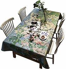 DZW Tischdecken Wipe Clean Printing Tischdecke Rechteckige Leinen Tischdecken FüR ÖL Beweis FüR Esszimmer Esstisch Couchtisch Bar , 140*180cm , A,Kosteneffizien