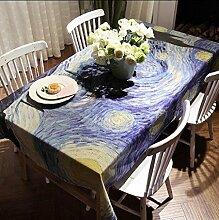 DZW Tischdecken Wipe Clean Printing Tischdecke Rechteckige Leinen Tischdecken FüR ÖL Beweis FüR Esszimmer Esstisch Couchtisch Bar , 140*140cm , B,Kosteneffizien