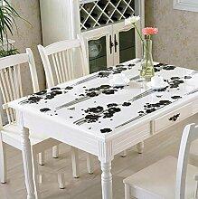 DZW Transparente Pvc Wasserdichte öL-Proof Tischdecke Dicker Anti-Heiß-Plastik Tischdecke FüR Couchtisch Esstisch , A , 100cm*100cm, Kosteneffizien