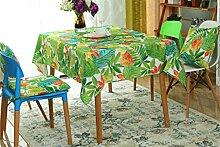 DZW Wasserdichte öLbestäNdige Tischdecke Backed Plastic Tischdecke Floral Tischtuch Esstisch Abdeckung Auf Tisch Tisch Couchtisch Auftragen , 152x305cm, Kosteneffizien