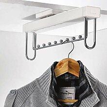 DZX Kleiderbügel, ausziehbare Kleidergleitstange,