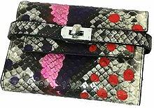 DZX Women's Wallet-Leder-Design-Short Zipper