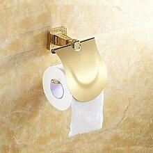 DZXYA Europäischen Stil massivem Messing Toilettenpapier Halter gold Bad-Accessoires