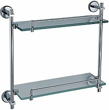 DZXYA Kaiping Kupfer Edelstahl Bad Accessoires Glastablare Bad Regal Glasgestell 415 lange , 415*130*370mm