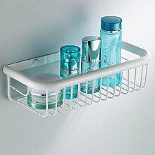 DZXYA Kontinentale gebratenes weißes Regal Körbe Badezimmer Rack Kupfer-Bad-Accessoires , 45cm