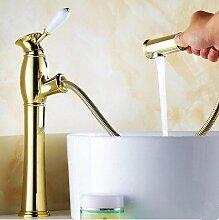 DZXYA Retro heiße und kalte Tauchbecken Classic Single Loch auf dem Waschbecken Waschbecken Wasserhahn B